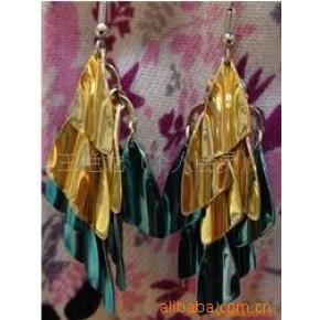 :韩版时尚明星个性三色金耳环
