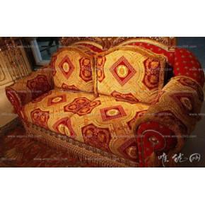 欧式仿古典布艺双人沙发