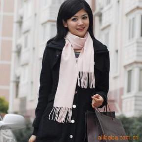 批发供应羊绒围巾 素色围巾 围巾 H-546