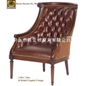 书房休闲坐式1人真皮座椅,户外进口皮椅子