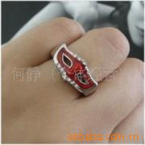 人气新款镶钻面具韩国明星戒指