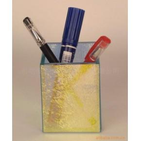 小型玻璃文具、玻璃笔筒 TZY