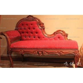 欧式实木贵妃椅,定制家具:唯优网