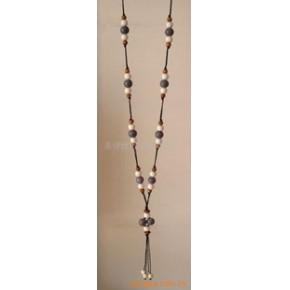 小额批发陶瓷饰品+手工编织项链