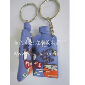 PVC钥匙扣,塑胶钥匙扣,卡通钥匙扣