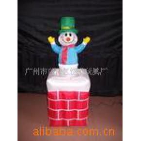 120公分上下活动烟囱雪人 电动款圣诞装饰品