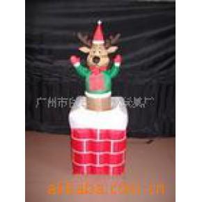 120公分上下活动烟囱鹿 电动款圣诞鹿装饰品