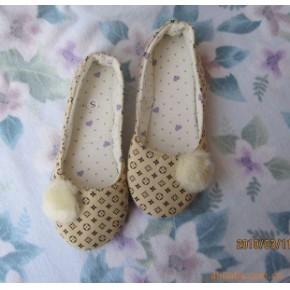 外贸 春季布艺单鞋/月子鞋/办公鞋 毛球款