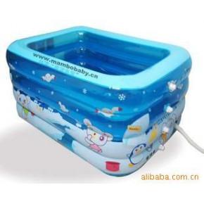 曼波鱼屋 08款充气婴儿游泳池套装配送充吸两用电泵