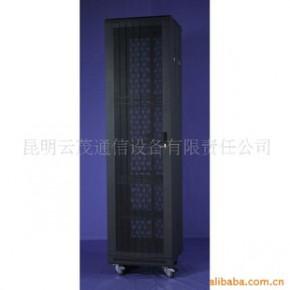 云南生产网络设备机柜-豪华型板块圆弧网孔门47U