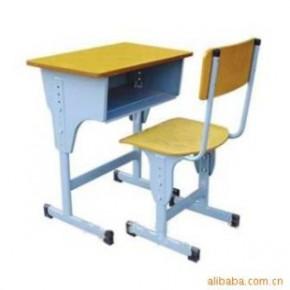 课桌椅(单人双腿双层配双腿椅子)