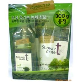 韩国进口爱敬绿茶沐浴套盒 韩国商品批发供应