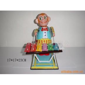 TF2025铁皮玩具猴子打琴