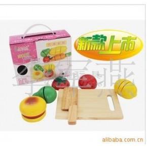 木质 过家家玩具 拼图 积木 切切看 营养套餐