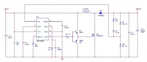 3.7v升5v升6v 5v升12v大电流电源方案