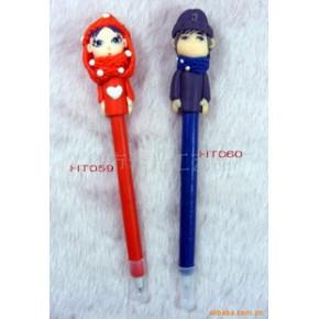 情人节系列软陶笔圆珠笔中性笔