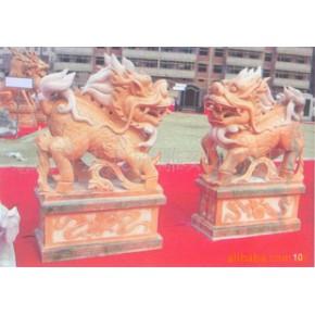 雕刻 动物人物 假山喷泉 亭子花架