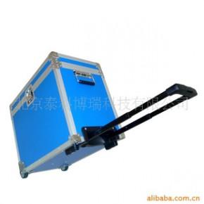 航空箱,蓝色带隐藏式拉杆和嵌入式静音滚轮
