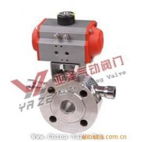 不锈钢保温气动薄型球阀BQ672F-16PDN40