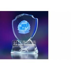 蓝白水晶盾牌