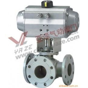气动碳钢三通球阀Q645F-25CDN20