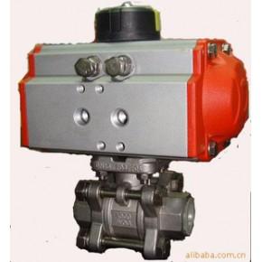 三片式气动内螺纹球阀Q611F-40PDN40