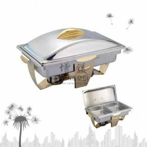 电热方型镀金餐炉