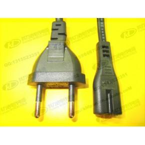 现货供应,1.2米欧规两插带八字尾2芯0.5平方