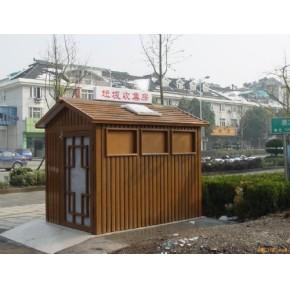 上海同迹新材料氟碳水印木纹铝金属仿木建材环卫垃圾房