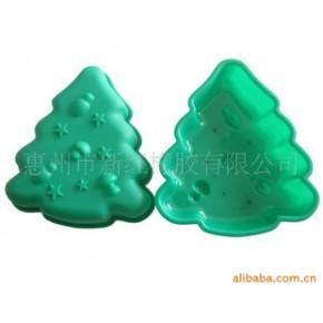 耐用,不粘,容易清洗圣诞树硅胶烤模