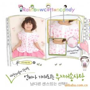 童装韩国童装 2010夏新款 童装圆点纯棉梭织衬衣