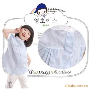 童装 韩国韩版童装2010夏新款 女童衬衣