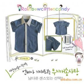 童装 韩国韩版童装 2010夏新款 男童衬衣