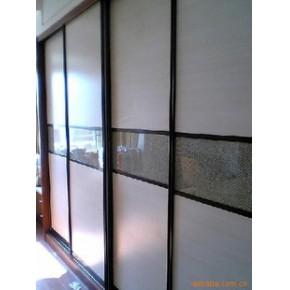 门窗、钛合金移门、平板、花玻璃