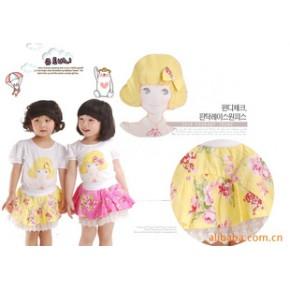 童装 韩国韩版女童装 蛋糕裙 梭织印花短裙 夏新款