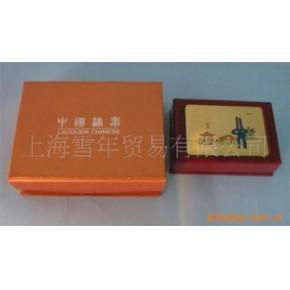 木制/木质名片盒,脸谱红木名片盒,