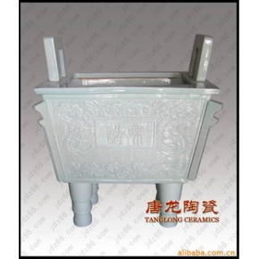 景德镇唐龙陶瓷公司供应白釉和谐陶瓷鼎