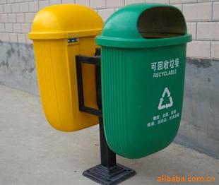 厦门玻璃钢分类垃圾桶b-7