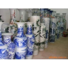 游鱼荷花 花瓶 白瓷