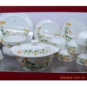 景德镇餐具套装 56头韩式骨质瓷餐具瓷器 陶瓷—菊花香