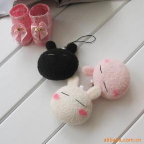 手工兔斯基小挂件可爱手机挂件手机链 毛绒玩具
