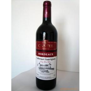 法国进口葡萄酒 法国卡斯特波尔多红酒