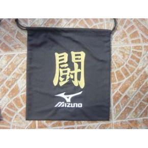 黑色涤纶 棒球手套袋 束口袋 鞋袋 外贸品质