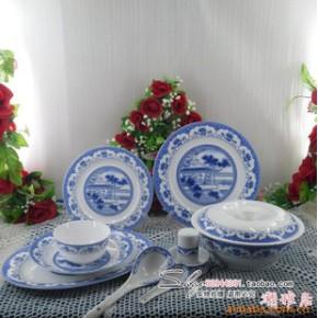 景德镇  56头优质骨瓷餐具 镜中观花