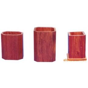 红木小四角笔筒 花梨木制 物美价廉原色仿色实木