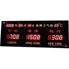 厦门(三市)城市时间屏、简易世界时间屏、简易时间屏、LED屏