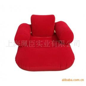 【】1件批发 时尚休闲植绒沙发 单人沙发