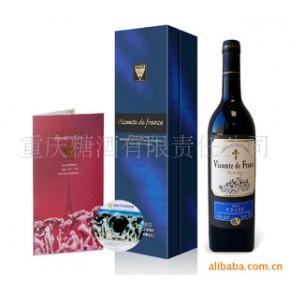 法国子爵蓝标干红葡萄酒 750(ml)