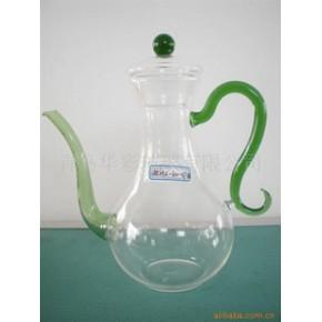 【优质】玻璃手工工艺壶HCHu-400-029绿