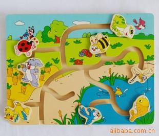 顺企网 产品供应 玩具 木制玩具 03 木制儿童玩具 池塘小动物找位